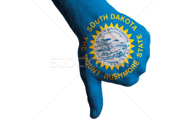 south dakota us state flag thumbs down gesture for failure made  Stock photo © vepar5