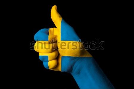 Chade bandeira polegar para cima gesto excelência Foto stock © vepar5