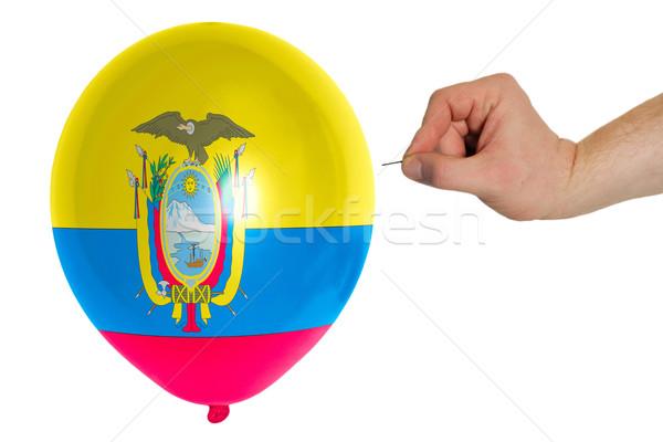 Balon renkli bayrak Ekvador kavram siyaset Stok fotoğraf © vepar5