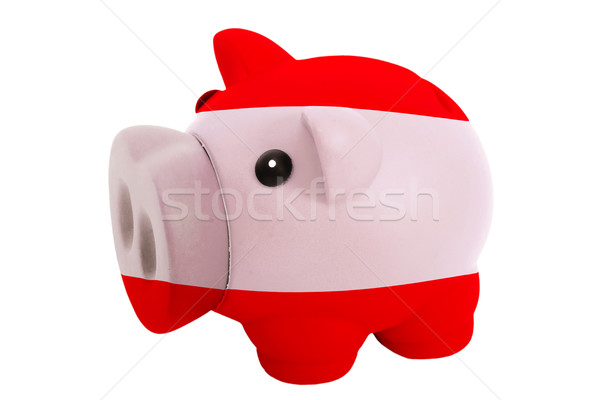 piggy rich bank in colors  national flag of austria    for savin Stock photo © vepar5
