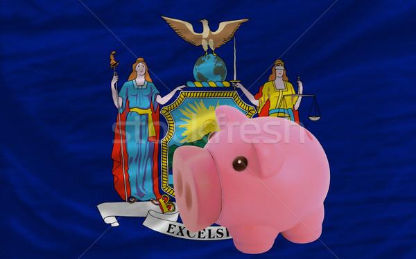 Bogate banku banderą amerykański Nowy Jork Zdjęcia stock © vepar5