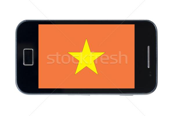 Smartphone pavillon Viêt-Nam téléphone internet téléphone Photo stock © vepar5