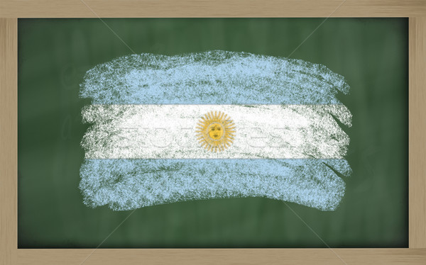 national flag of argentina on blackboard painted with chalk Stock photo © vepar5