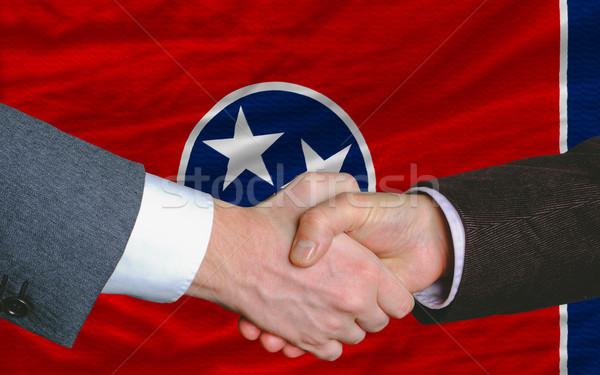 Pavillon Tennessee deux affaires serrer la main Photo stock © vepar5