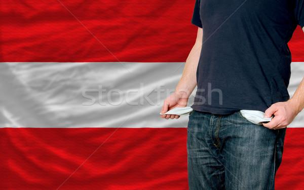 Durgunluk genç toplum Avusturya yoksul adam Stok fotoğraf © vepar5