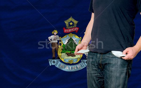 Recessão moço sociedade americano pobre homem Foto stock © vepar5
