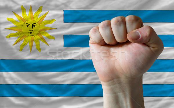 кулаком Уругвай флаг власти полный все Сток-фото © vepar5