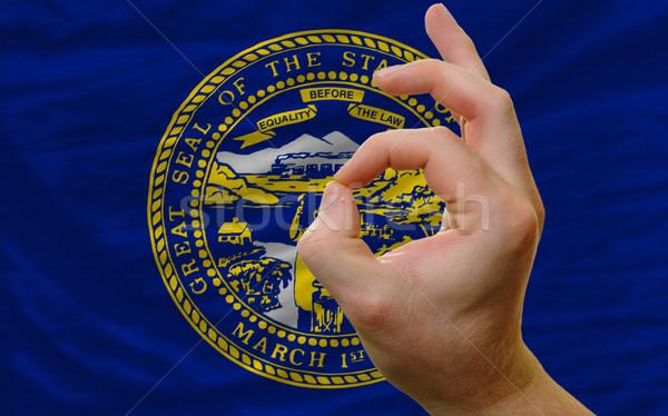 Gesto Nebraska bandiera uomo Foto d'archivio © vepar5