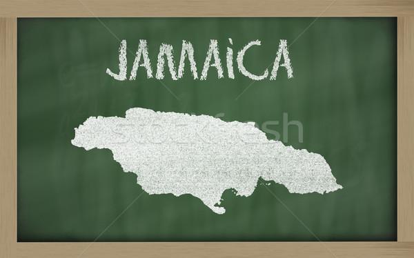Mapa Jamaica lousa desenho Foto stock © vepar5