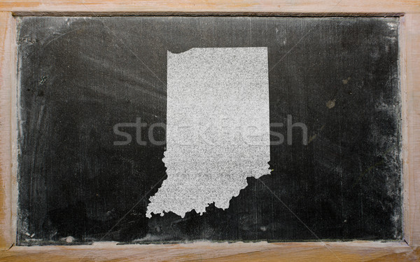 Carte Indiana tableau noir dessin Photo stock © vepar5