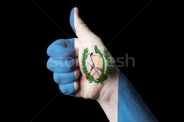 guatemala national flag thumb up gesture for excellence and achi Stock photo © vepar5