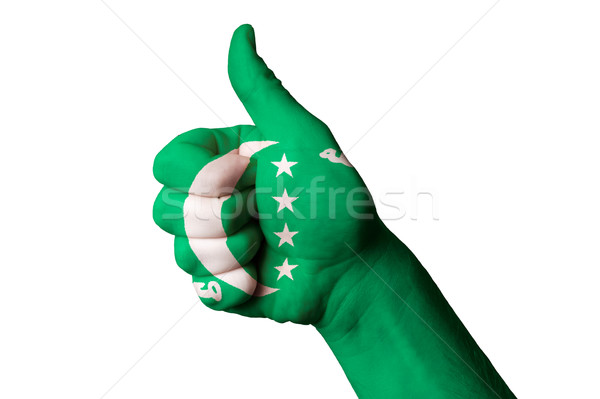 Comores bandeira polegar para cima gesto excelência Foto stock © vepar5
