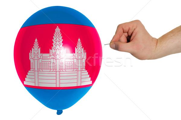 バルーン フラグ カンボジア 背景 コンセプト ストックフォト © vepar5