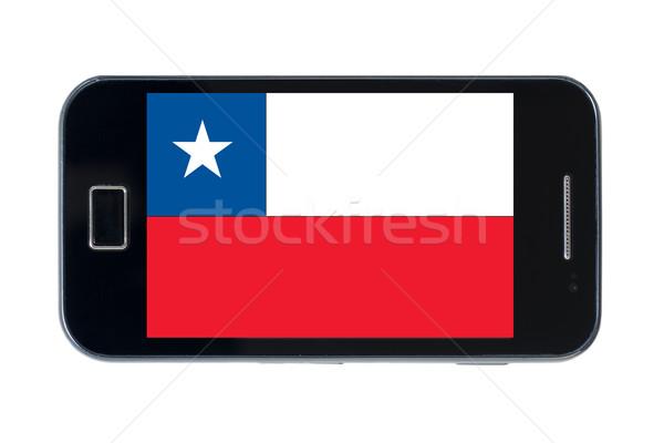 Smartphone bandiera Chile Canada telefono internet Foto d'archivio © vepar5
