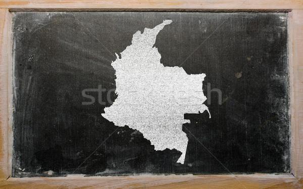 Mapa Colômbia lousa desenho Foto stock © vepar5
