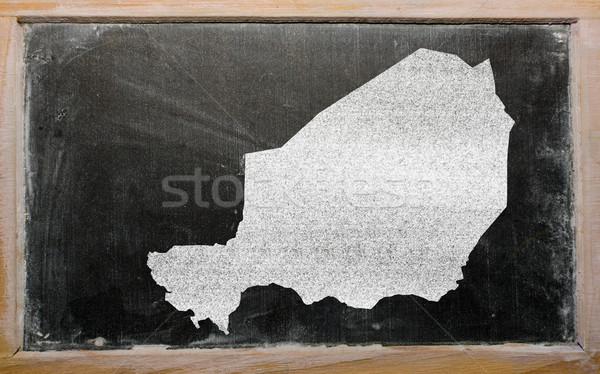 Contorno mappa Niger lavagna disegno Foto d'archivio © vepar5