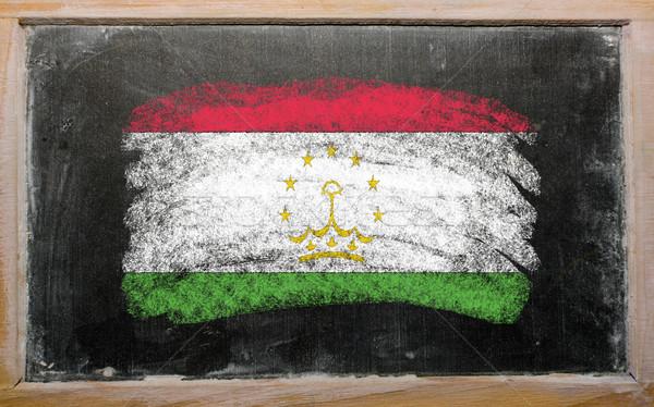 flag of tajikistan on blackboard painted with chalk   Stock photo © vepar5