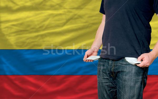 Recesja młody człowiek społeczeństwo ubogich człowiek Zdjęcia stock © vepar5