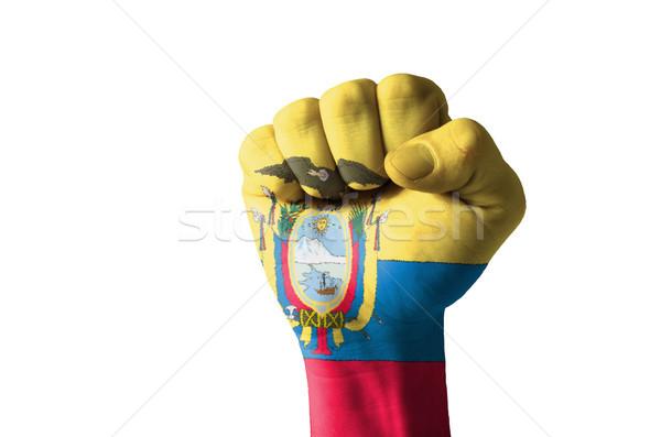 Puno pintado colores Ecuador bandera bajo Foto stock © vepar5