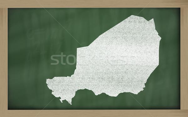 Mapa Níger pizarra dibujo Foto stock © vepar5