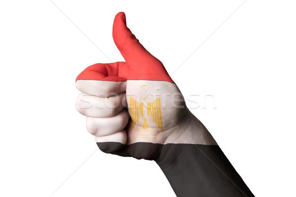 Egito bandeira polegar para cima gesto excelência Foto stock © vepar5