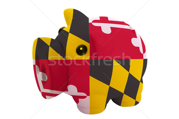 piggy rich bank in colors  flag of american state of maryland    Stock photo © vepar5