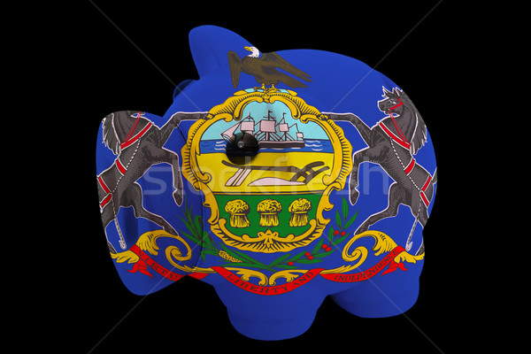 Stockfoto: Rijke · bank · kleuren · vlag · amerikaanse