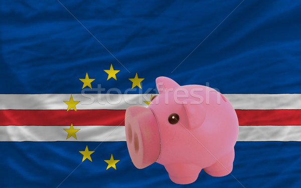 piggy rich bank and  national flag of  of capeverde    Stock photo © vepar5