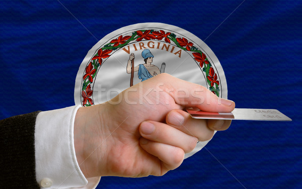 buying with credit card in us state of virginia Stock photo © vepar5