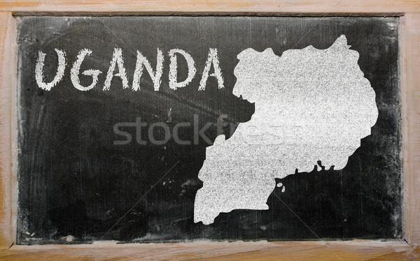 Harita Uganda tahta çizim Stok fotoğraf © vepar5