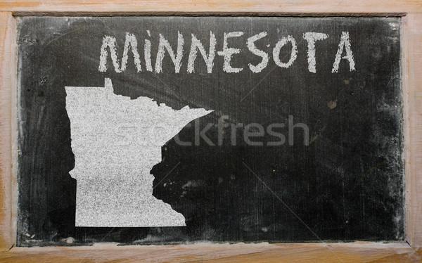 Skicc térkép Minnesota iskolatábla rajz amerikai Stock fotó © vepar5