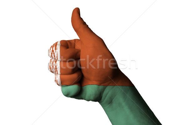 belarus national flag thumb up gesture for excellence and achiev Stock photo © vepar5