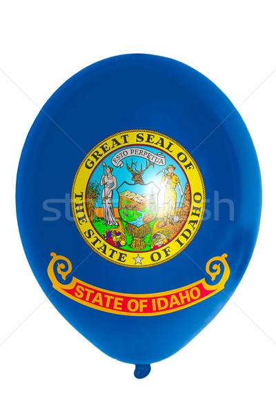 Ballon gekleurd vlag amerikaanse Idaho gelukkig Stockfoto © vepar5