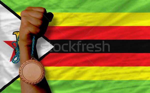 青銅 金メダル スポーツ フラグ ジンバブエ ストックフォト © vepar5