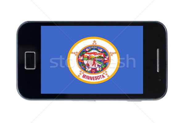 Okostelefon zászló amerikai Minnesota telefon telefon Stock fotó © vepar5