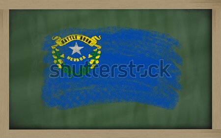 flag of us state of nevada on blackboard painted with chalk Stock photo © vepar5