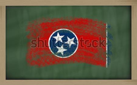 フラグ テネシー州 黒板 描いた チョーク アメリカン ストックフォト © vepar5