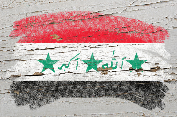 Vlag Irak grunge houten textuur geschilderd Stockfoto © vepar5