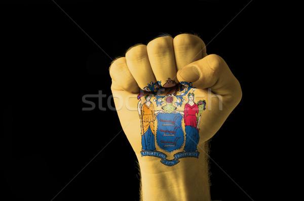 ököl festett színek New Jersey zászló alacsony Stock fotó © vepar5