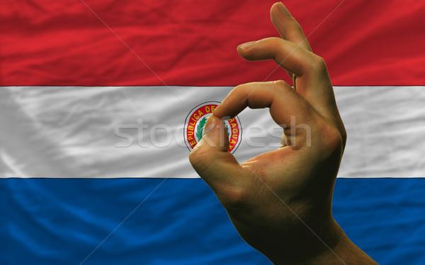 Gest Paragwaj banderą człowiek Zdjęcia stock © vepar5