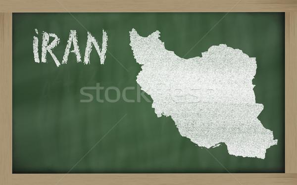 Harita İran tahta çizim Stok fotoğraf © vepar5