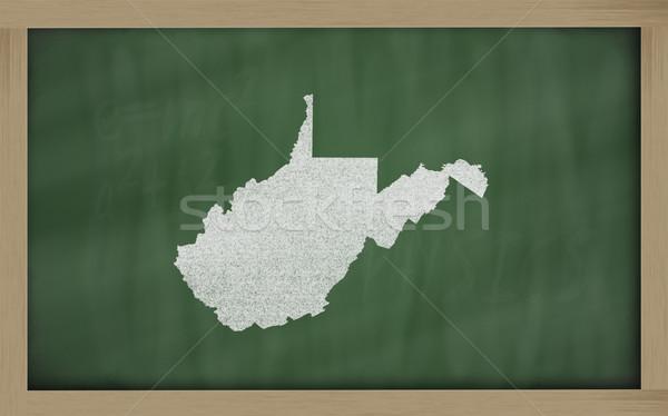 Skicc térkép Nyugat-Virginia iskolatábla rajz tábla Stock fotó © vepar5