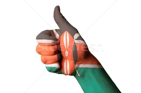 Kenia bandiera pollice up gesto eccellenza Foto d'archivio © vepar5