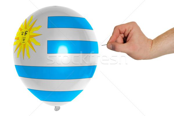 Balão bandeira Uruguai pop política Foto stock © vepar5
