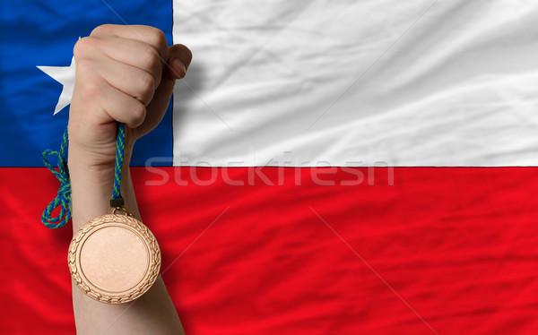 Bronzo medaglia sport bandiera Chile Foto d'archivio © vepar5