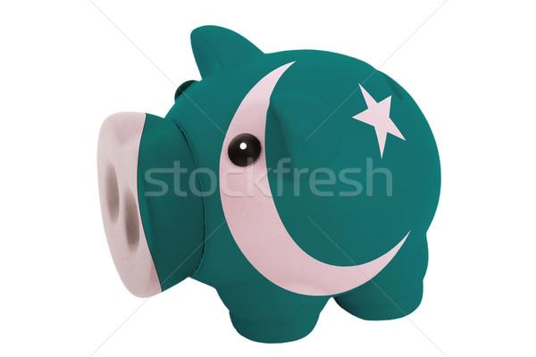 Rijke bank kleuren vlag Pakistan Stockfoto © vepar5