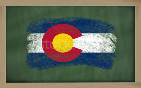 Bandera Colorado pizarra pintado tiza americano Foto stock © vepar5
