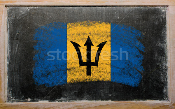 flag of Barbados on blackboard painted with chalk   Stock photo © vepar5