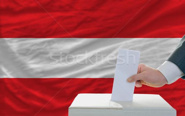 человека голосование выборы Австрия голосование окна Сток-фото © vepar5