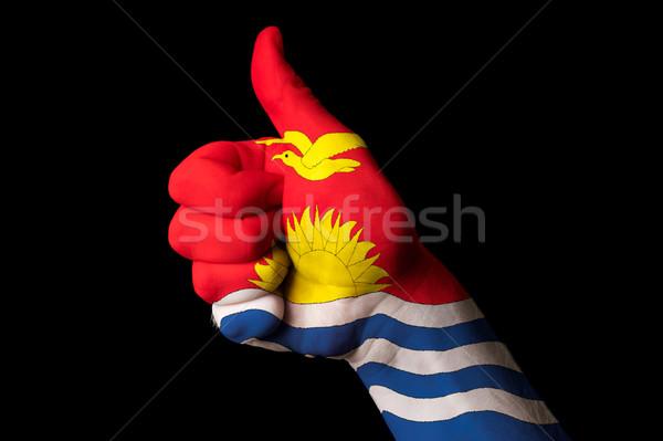Kiribati zászló hüvelykujj felfelé kézmozdulat kiválóság Stock fotó © vepar5